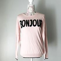 Nwt Elle Blush Pink Bonjour Sweater Women's Size Medium Photo