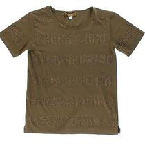 Nwt Ellen Tracy Embellished Taupe Brown Studded Top M Msrp 69.50 Photo