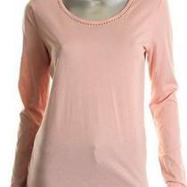 Nwt Ellen Tracy Filigree Embellished Top Blush Pink M Photo