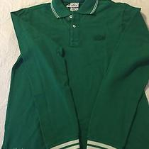 Nwt Embroidered Lacoste Name Polo Long Sleeve Size 14 Photo