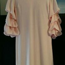 Nwt est.1946 First Bloom-Pale Dogwood Pink Xs Tiered Ruffle Sleeves Dress Lovely Photo