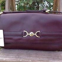 Nwt Etienne Aigner Horse Bit  Burgundy  Oxblood  Wine Leather Shoulder Bag Purse Photo