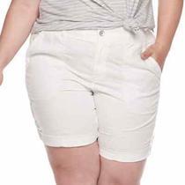 Nwt  Evri  Utility White Bermuda Shorts  Plus Size 20w  Msrp 36.00 Photo