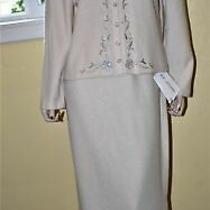 Nwt & Excellent St John Evening  Long Skirt Suit Size 12  L  Large  Photo