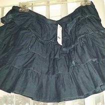Nwt Expess Size M Skirt Denim Skirt Tier Jean Skirt Ruffle Skirt Summer Skirt Photo