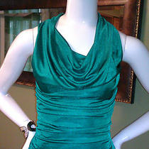 Nwt Express 50 Green Ruched Drape Top Small Beautiful Look Photo