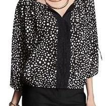 Nwt Express 50 Lace Polka Dot Banded Bottom Dolman Blouse Size Xs Pretty Photo