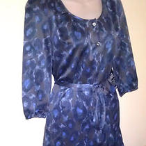 Nwt Express 60 Belted Shirtdress Ink Blue Size Xs Beautiful Hard to Find Photo