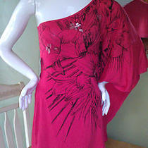 Nwt Express 60 Printed One-Shoulder Drape Sleeve Dress Large Gorgeous Photo