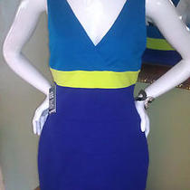 Nwt Express 88 Color Block Bandage Dress Size Large So Sexy Hard to Find Photo