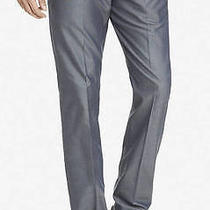 Nwt Express 88 Gray Oxford Cloth Innovator Suit Pant Sz 32/30 Photo