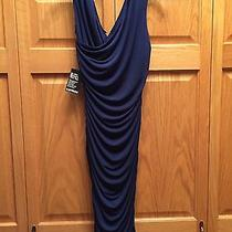 Nwt Express 98 Navy Blue Side Ruched Dress Medium Party Formal Knee Length Photo