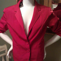 Nwt Express 98 True Red Ruched Sleeve Jacket Gorgeous Size 12 Hard to Find Photo