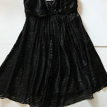 Nwt Express Black Baby Doll Dress Strapless Size 0 Animal Print Brand New Photo