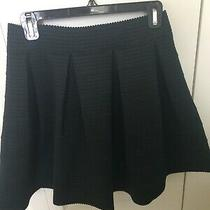 Nwt Express Black Skater Skirt Elastic Stretch Flared Pleated Circle Size Med Photo