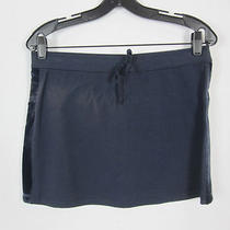 Nwt Express Blue Cotton Micro Mini Skirt M 8 10 Photo