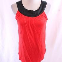 Nwt Express Bright Vibrant Bold Red Black Sequin Classy Mod Club Tunic Knit Top  Photo