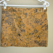 Nwt Express Brown Suede Leather Mini Skirt Animal Print Leopard Floral 2 26 Rare Photo