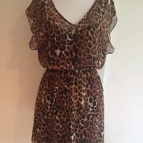 Nwt Express Cheetah Pattern Flow Style Mini Dress Short Sleeves Size X Small Photo
