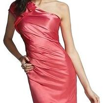 Nwt Express Coral One Shoulder Ruffle Dress Size 4 98 Retail Sexy Photo