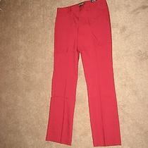 Nwt Express Editor Pants Solid Red Lacquer 2s Photo