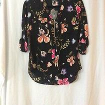 Nwt Express Floral Chelsea Popover Top  - S (Measurement in Pic) Photo
