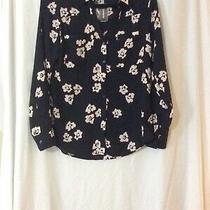 Nwt Express Floral Portofino Shirt Blouse Top - M (Measurement in Pic) Photo