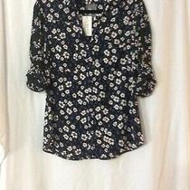 Nwt Express Floral Slim Fit Portofino Shirt Blouse Top - M (Measurement in Pic) Photo