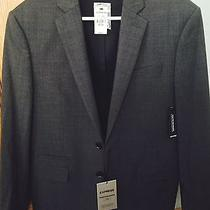 Nwt Express Gray Photography Blazer Suit Jacket 328 Size 38s Photo