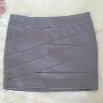 Nwt - Express Grey Bandage Bodycon Mini Pencil Skirt - Size 2   Photo