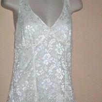 Nwt Express Ivory Lace Women's Tank Top -- M  Photo