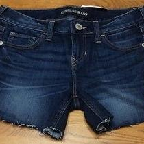 Nwt Express Jeans Womens Shorts Sz 2 Distressed Cut Off  Photo
