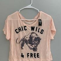 Nwt Express Light Peach Crop Top Size Small Photo
