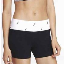 Nwt Express Lightning Bolt White Active Athletic Yoga Shorts Size Medium  Photo