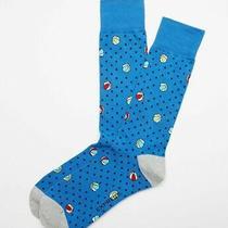 Nwt Express Men Beach Ball Print Dress Socks Blue 04601666 1822 Co Photo