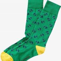 Nwt Express Men's Anchor Print Dress Socks Green 2113 606 Photo