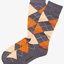 Nwt Express Men's  Argyle Dress Socks Orange 1467 238 07 Photo