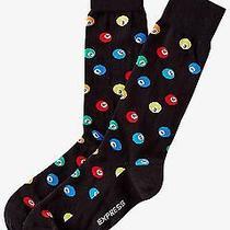 Nwt Express Men's Billiard Ball Print Dress Socks Black 2023 058 07 Photo