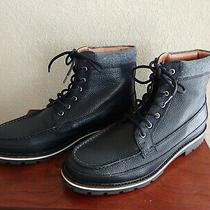 Nwt  Express Men's Black Leather Wool Cuff Lace-Up Boots  Us Size 9.5 Photo