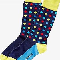 Nwt Express Men's Bright Multicolor Dot Dress Socks Navy 2057 709 05 Photo