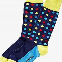 Nwt Express Men's Bright Multicolor Dot Dress Socks Navy 2057 709 Photo