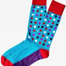 Nwt Express Men's Bright Multicolor Dot Dress Socks Turquoise 2057 828 Photo