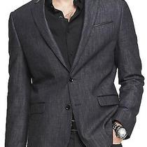 Nwt Express Men's Cotton Denim Blazer Jean Photographer Jacket Sz 36s Photo