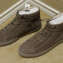 Nwt-Express Men's Gray Leather Faux Fur Lining Lace-Up Boots/size 8/ Retail 148 Photo