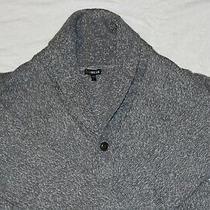Nwt Express Mens Light Grey/mottled Shawl Collar Cardigan (Size m) Photo