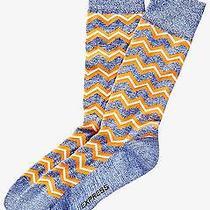 Nwt Express Men's Marled Zigzag Dress Socks Orange 2061 440 05 Photo