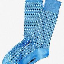 Nwt Express Men's Micro Dot Print Dress Socks Blue 2027 822 05 Photo