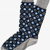 Nwt Express Men's Mixed Dot Dress Socks Navy 2070 770 05 Photo