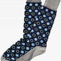 Nwt Express Men's Mixed Dot Dress Socks Navy 2070 770 Photo