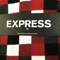 Nwt Express Men's Multicolor Square Dress Socks Fast Ship  Photo